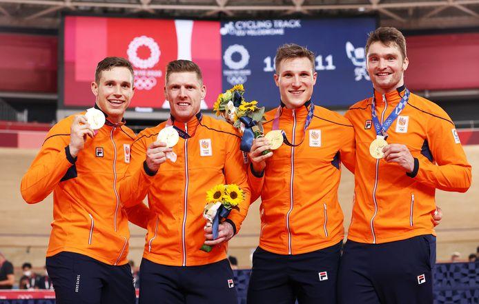 Goud: teamsprinters (baanwielrennen, mannen)