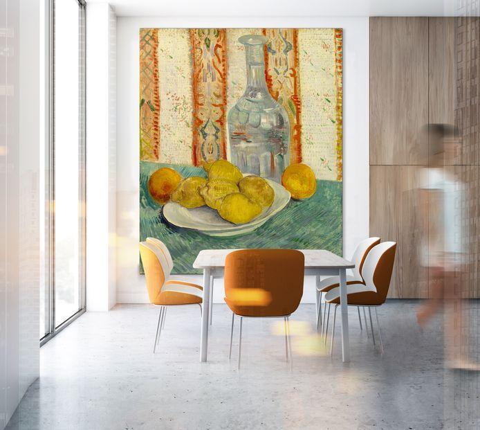 Van Gogh - karaf en schotel met citrusvruchten.
