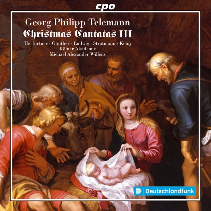 De cover van George Philipp Telemann's Christmas Cantatas III