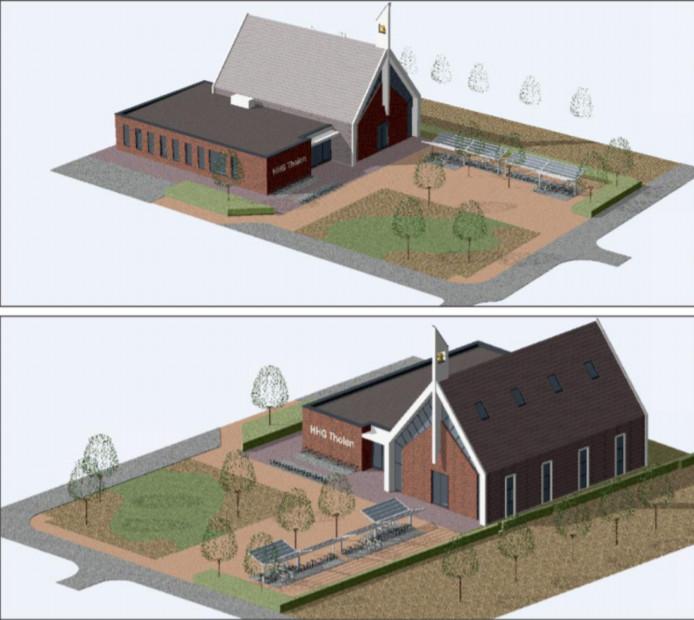 Impressies van het nieuwe kerkgebouw aan de Prins Bernhardstraat in Tholen.