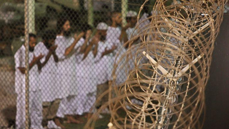 Gevangenen in Guantánamo. Beeld ASSOCIATED PRESS
