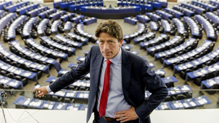 Paul Tang van de PvdA in de plenaire zaal van het Europees Parlement. Beeld anp