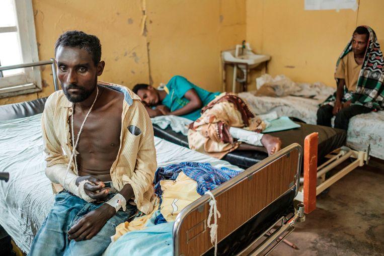 Duizenden Ethiopiërs zijn gevlucht naar Soedan. Beeld AFP