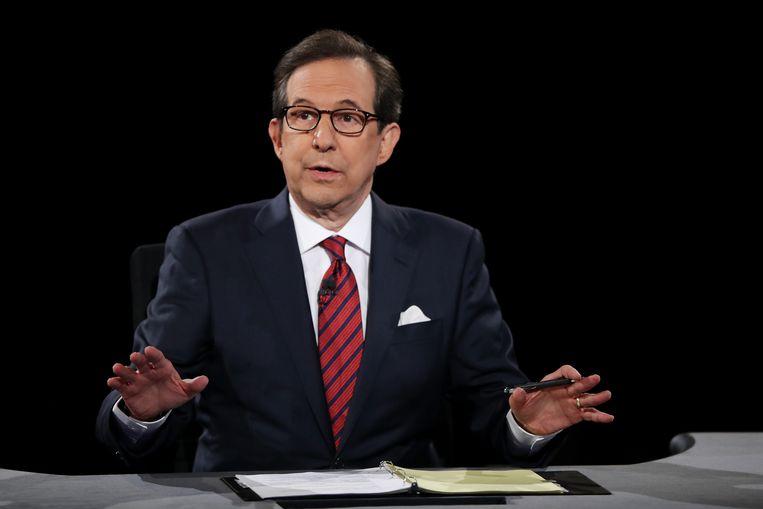 Chris Wallace tijdens het debat. Beeld Getty Images