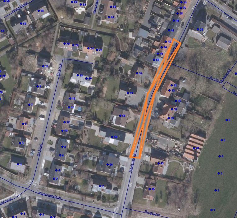 Het stuk Heulsestraat dat een nieuwe asfaltlaag krijgt.