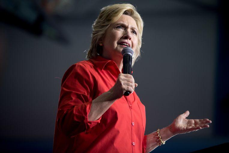 Trumps tegenstander in de Amerikaanse verkiezingen Hillary Clinton. Beeld AP