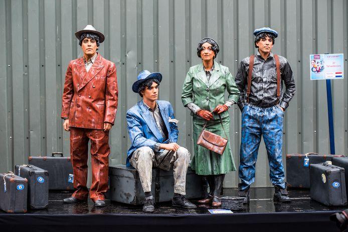 Levende standbeelden tijdens het NK Living Statues in Arnhem (2019).
