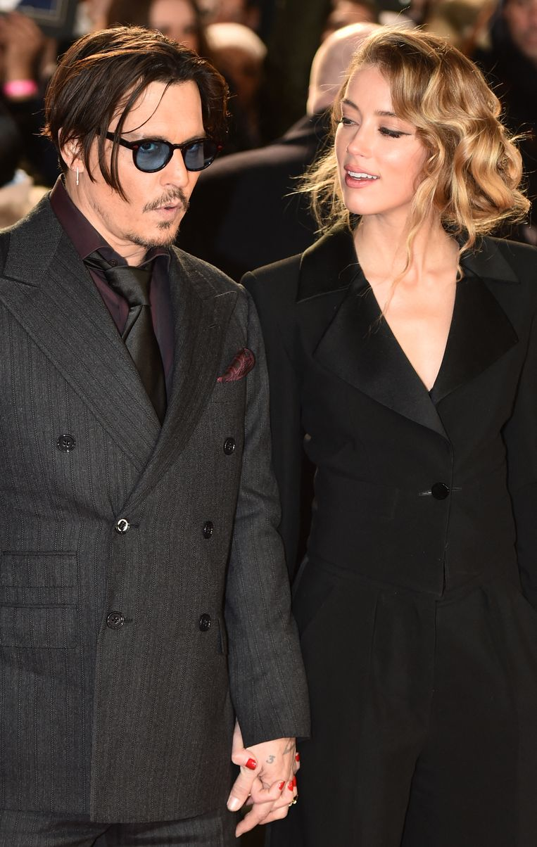 Johnny Depp en Amber Heard Beeld AFP
