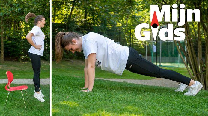 Sportkinesist Marie-Laure Willaert geeft tips en oefeningen.