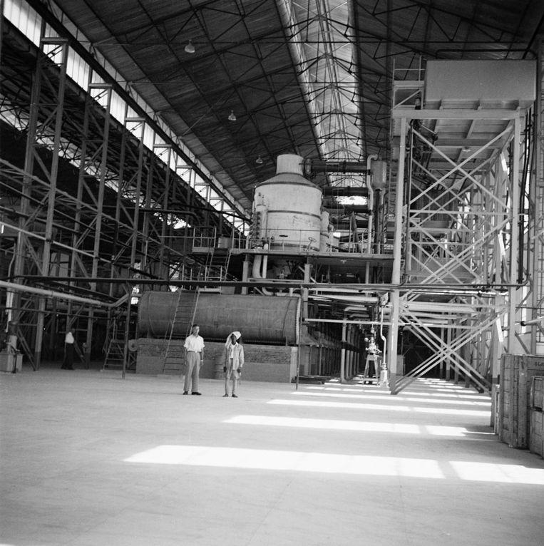 De gloednieuwe suikerfabriek in 1954 in Wonji, foto gemaakt door Frans Stork, de grootvader van de auteur.  Beeld F.G. Stork