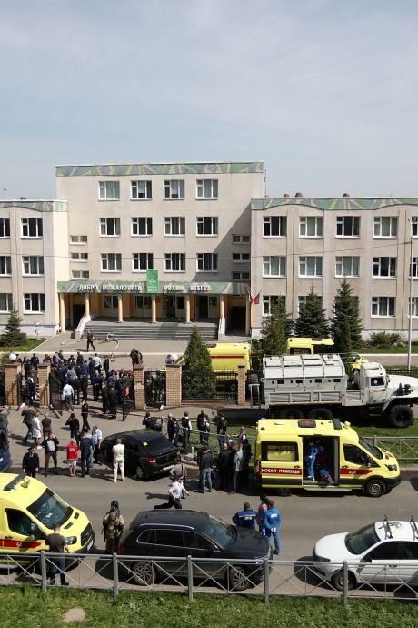 Leraar en zeven leerlingen dood bij schietpartij op school in Rusland