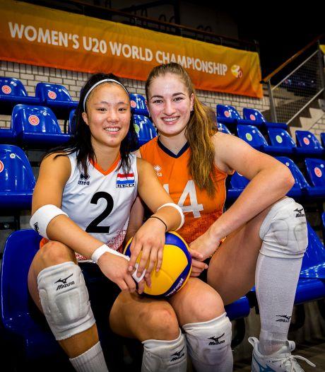 Jonge volleybaltalenten genieten van WK mét publiek: 'Leuk, onze ouders met toeters en oranje kleding'