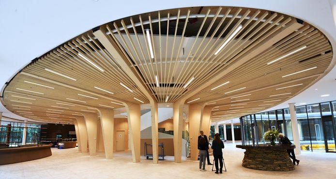 Het hoofdkantoor van de Triodosbank in Driebergen is geheel opgetrokken uit hout. Het is één van de inspiratiebronnen voor het Amersfoortse actiecomité.