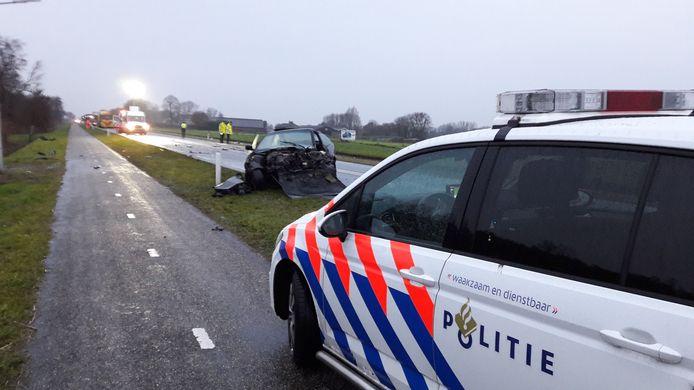 Bij de frontale botsing op de N377 bij De Krim kwam op 29 november 2018 een 21-jarige man uit Coevorden om het leven.