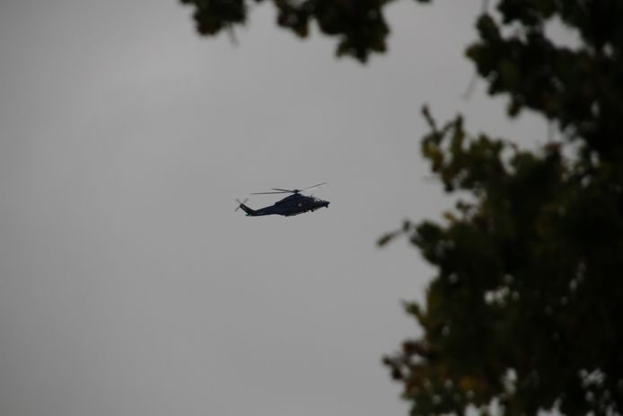 De politiehelikopter boven Rijssen.