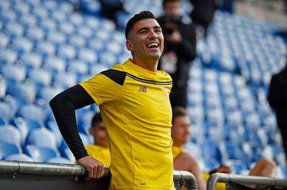 Reyes op training bij Sevilla (2016).