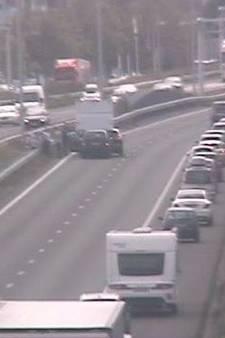 File op A2 bij Eindhoven door ongeluk