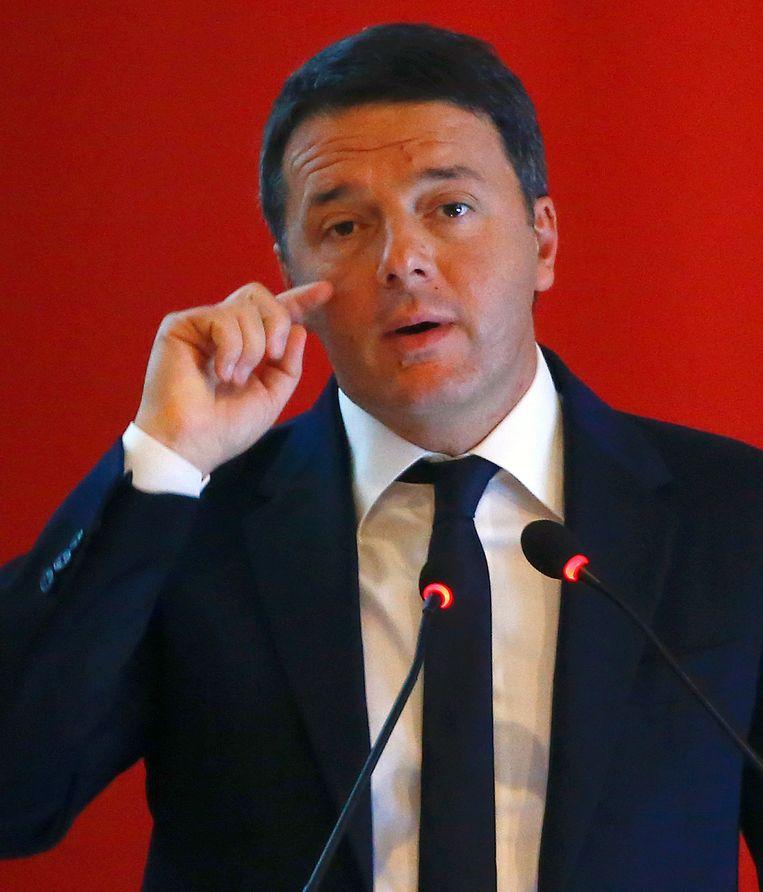 De Italiaanse premier Matteo Renzi. Beeld REUTERS