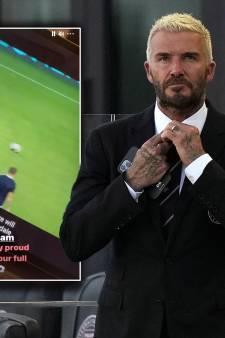 Zoon David Beckham debuteert als profvoetballer: 'Well done big boy'