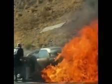 Deux personnes âgées sauvées des flammes