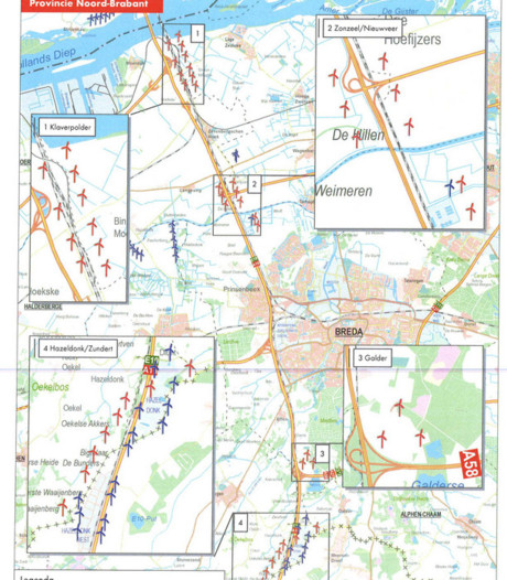 Provincie akkoord met alternatief plan voor windmolens A16 bij Moerdijk