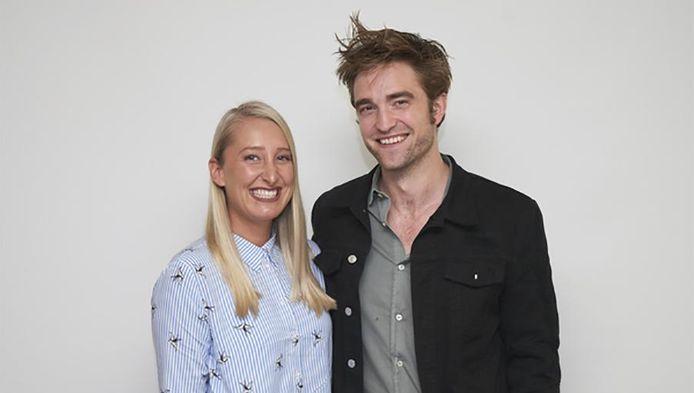 Onze reporter Kristien samen met Robert Pattinson.