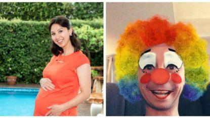 SHOWBITS. Nuria is klaar voor haar bevalling en Sam Gooris hangt de clown uit