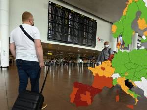 De moins en moins de vert sur la carte de l'ECDC: la moitié sud de la France en rouge, l'Italie en grande partie orange