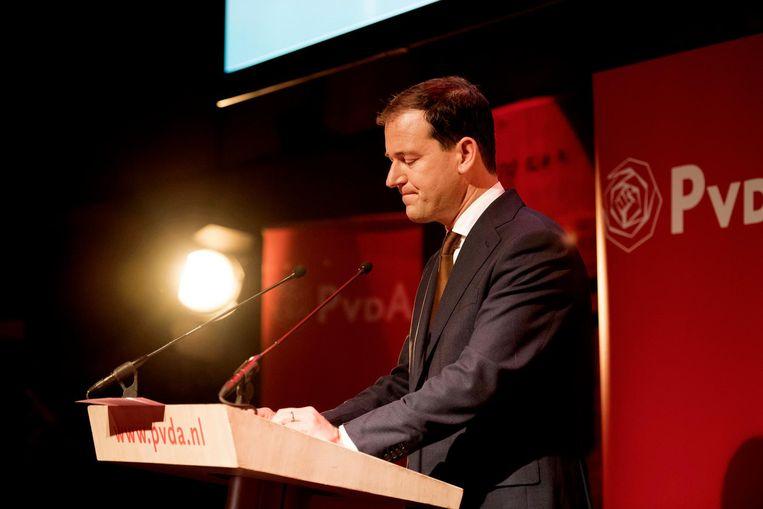 PvdA-lijsttrekker Lodewijk Asscher na zijn nederlaag. Beeld anp
