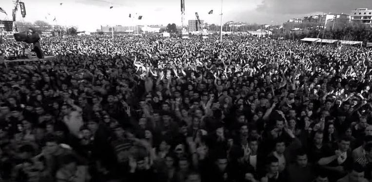 Beeld uit videoclip van Grup Yorum. Beeld YouTube