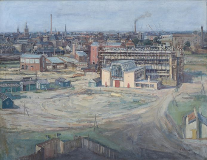 Eind vorig jaar slaagde Museum Vlaardingen er nog in om een door Ad Kikkert gemaakt schilderij van het Research Laboratorium van de Levers Zeepmaatschappij, het latere Unilever, aan te kopen.