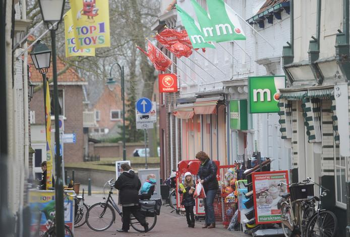 Winkels in Tholen-stad.