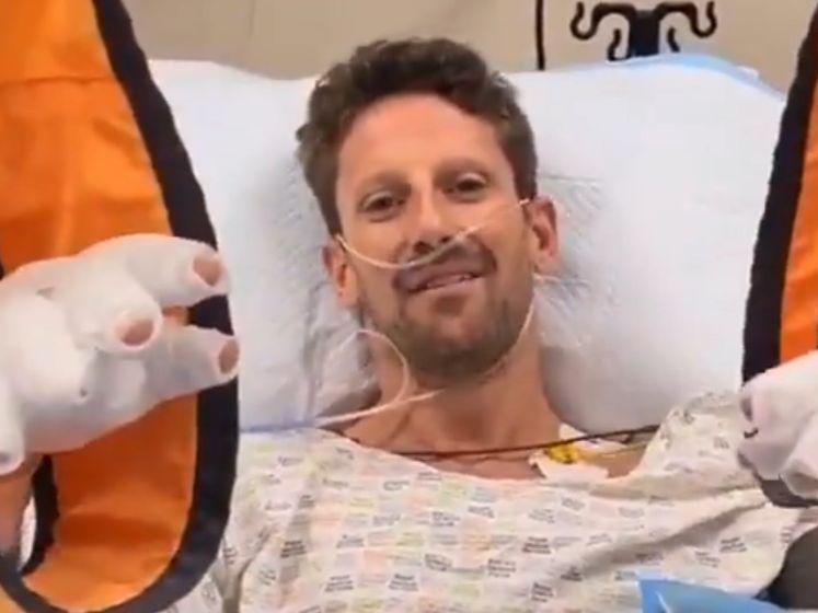 Videoboodschap van Grosjean na horrorcrash: 'Ik ben oké'