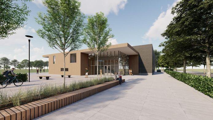 Een impressie van de entree van het nieuwe complex in Keijenborg.