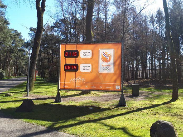 De tijdklok van NOC*NSF op Papendal wijst 115 dagen aan. De Spelen van Tokio zijn echter uitgesteld tot 2021. Dat duurt nog 479 dagen.