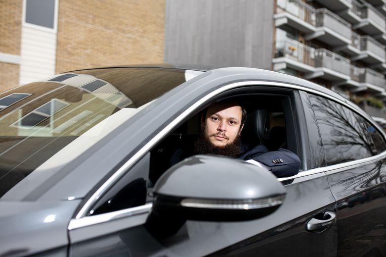 Sherif el Zeiny, eigenaar van bezorg-chauffeursdienst Delivery Drivers.   Beeld Nosh Neneh