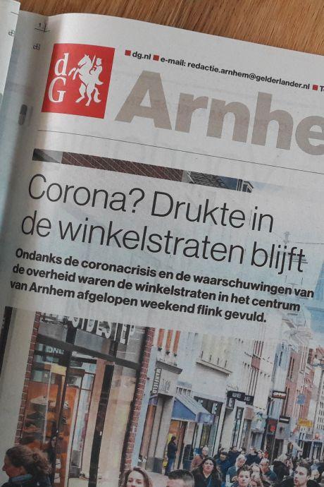 Journalisten De Gelderlander werken thuis, redactiekantoor onbezet