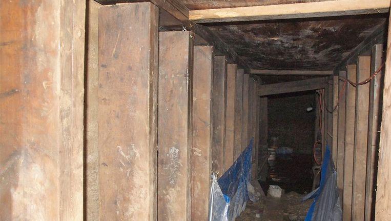 De tunnel die al weken voor veel commotie zorgde in Toronto. Beeld afp