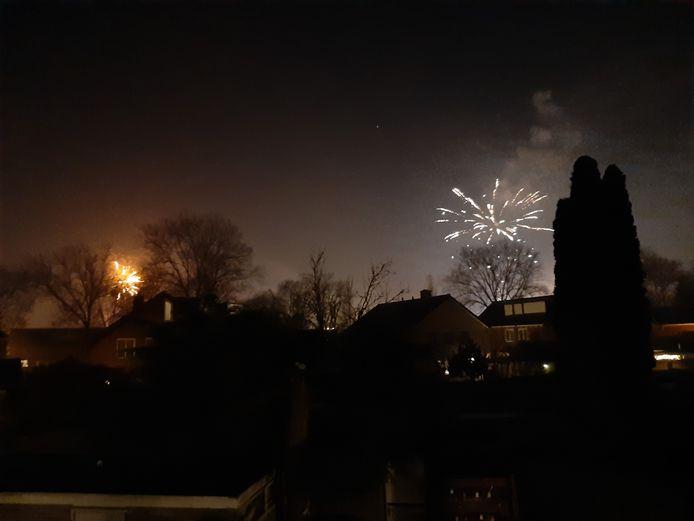 Vuurwerk boven Apeldoorn.