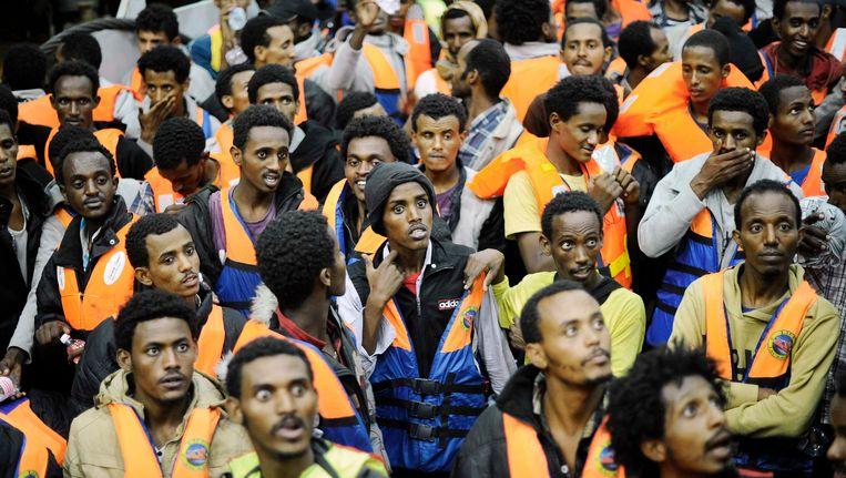 Geredde vluchtelingen uit Sub-Saharisch Afrika. Beeld reuters