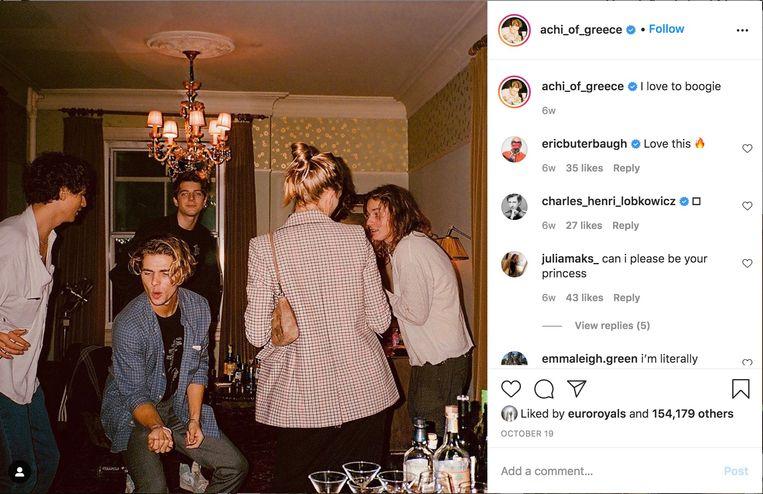 Prins Achileas-Andres van Griekenland (midden voor). Beeld Instagram