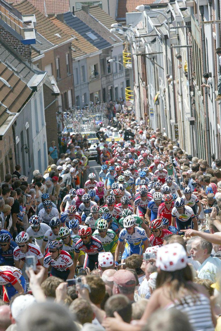 De Ronde van Frankrijk passeerde in 2004 al een keer door Geraardsbergen.