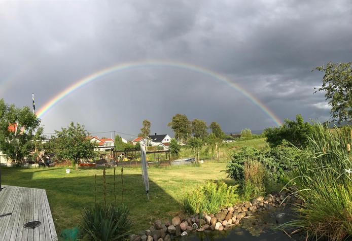 er een pot geld staan aan het eind van deze regenboog? Of is het plaatje al genoeg geluk?