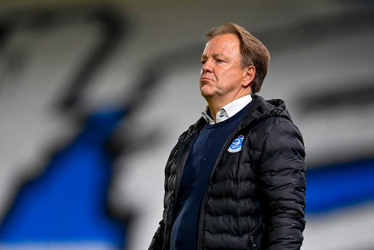 Trainer Mike Snoei heeft twee 'fantastische jaren gehad bij een geweldige club', zo schrijft hij na zijn ontslag bij de Graafschap.  Beeld Pro Shots / Stefan Koops