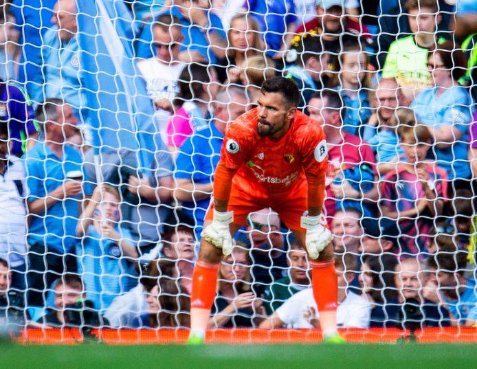 Watford-doelman Ben Foster werd zaterdag acht keer gepasseerd.