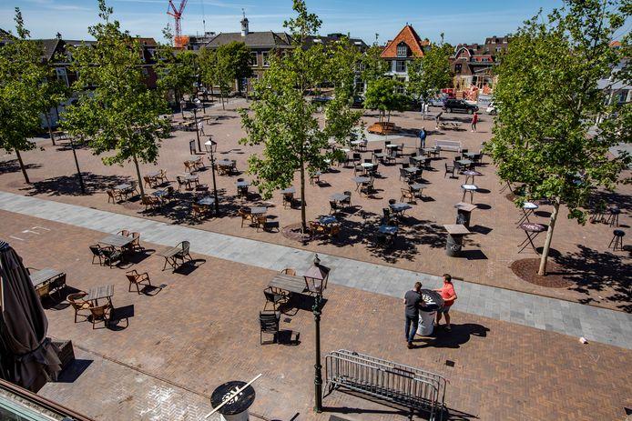 Het Marktplein in 's-Gravenzande.