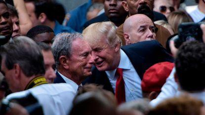 """Bloomberg trollt president met gigantische reclameborden: """"Donald Trump eet aangebrande biefstuk"""""""