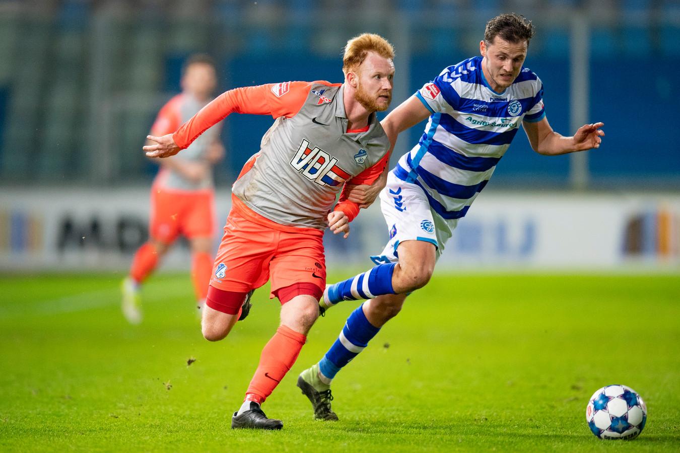 FC Eindhoven oefende vorig jaar ook in de voorbereiding tegen De Graafschap en verloor toen nipt met 1-0.