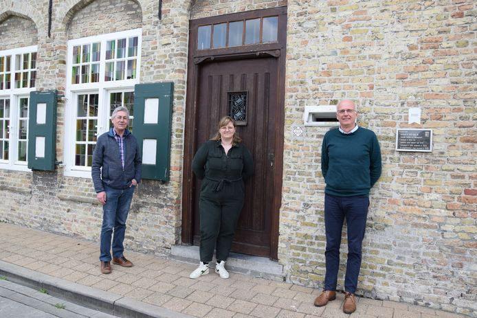 Dirk Ackerman, Lynn Claerhoudt en burgemeester Lode Morlion.