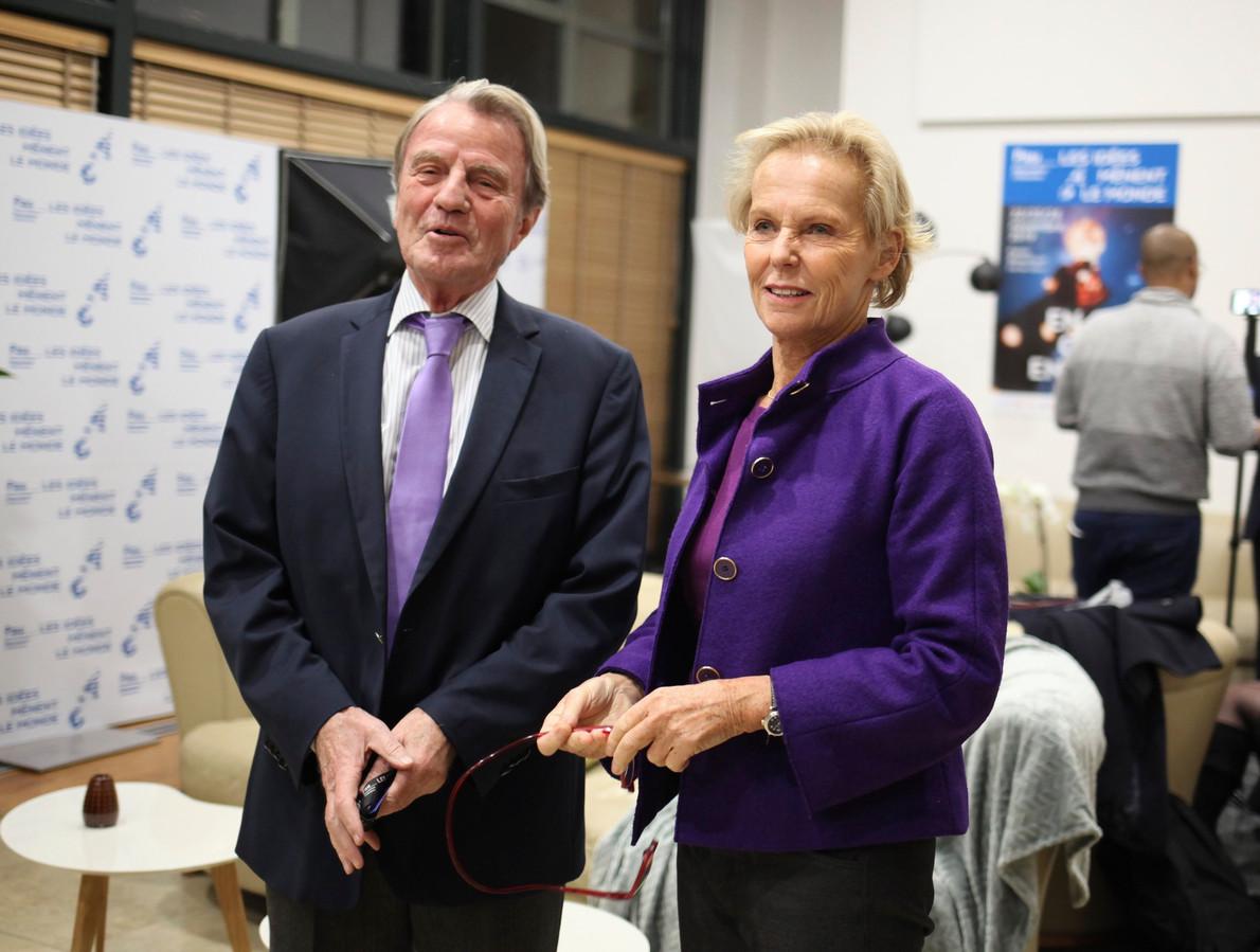 Bernard Kouchner et sa femme Christine Ockrent